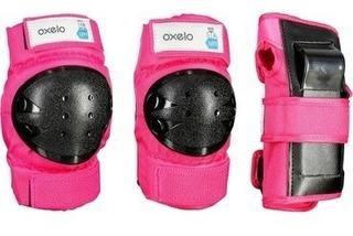 Kit Proteção Infantil Rosa Skate Bicicleta Patins Hoverboard