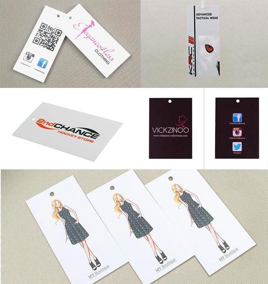 1000 Etiquetas Colgantes + Diseño + Envío / Etiqueta De Ropa