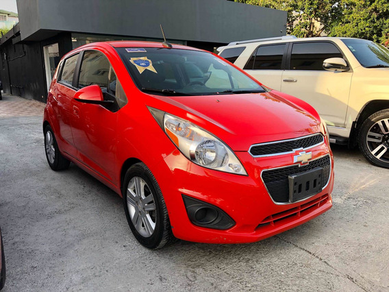 Chevrolet Spark Lt 2014 Rojo