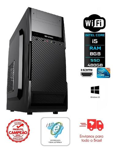 Imagem 1 de 6 de Pc Intel Core I5 3ª Ger/8gb Ddr3/480gb Ssd/gabinete + Fonte