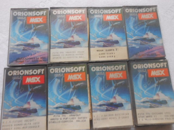 Msx Orionsoft Lote Com 8 Fitas Jogos Diferentes Único No Ml