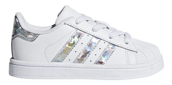 Zapatillas adidas Originals Moda Superstar El I Bebe Bl/pl