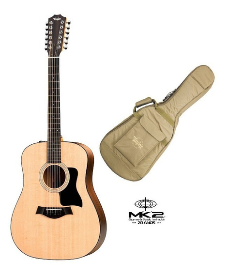 Guitarra Electroacústica Taylor 150e 12 Cuerda Funda Cuotas