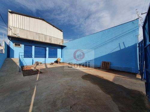 Galpão À Venda, 165 M² Por R$ 500.000,00 - Ipiranga - Ribeirão Preto/sp - Ga0025