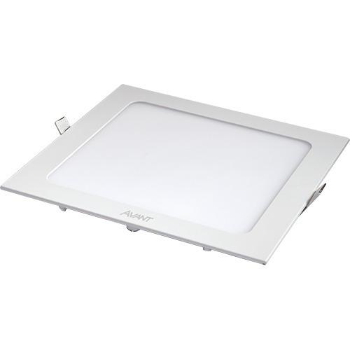 Kit 20 Painel Plafon Luminária 18w Led Quadrado Embutir