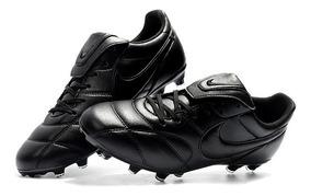 Chuteira Nike Premier 2.0 Campo Preto Couro Original :