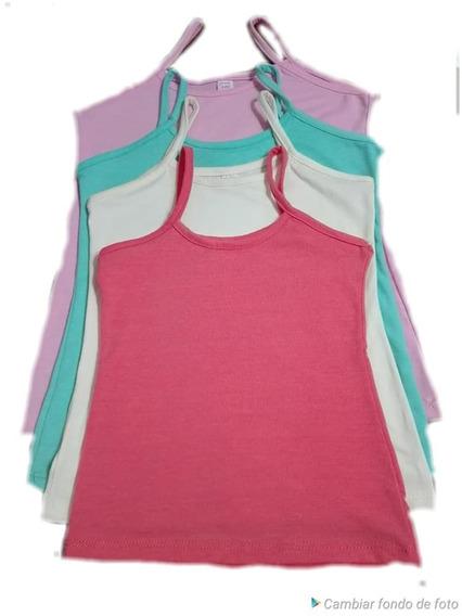 Musculosas Con Tiritas,niñas Talle 4 Al 16