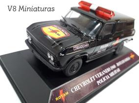 Miniatura Chevrolet Veraneio 1968 Rotam Go Polícia Militar