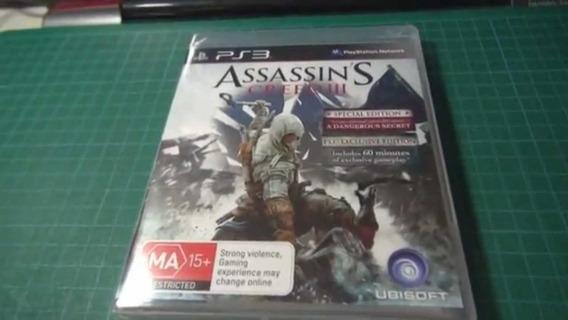 Assassins Creed 3 - Ps3 - Midia Fisica Em Cd Original
