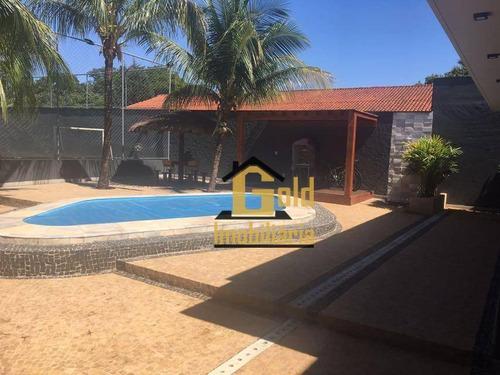 Chácara Com 3 Dormitórios À Venda, 2100 M² Por R$ 1.200.000,00 - Condomínio Portal Dos Ipês - Ribeirão Preto/sp - Ch0008