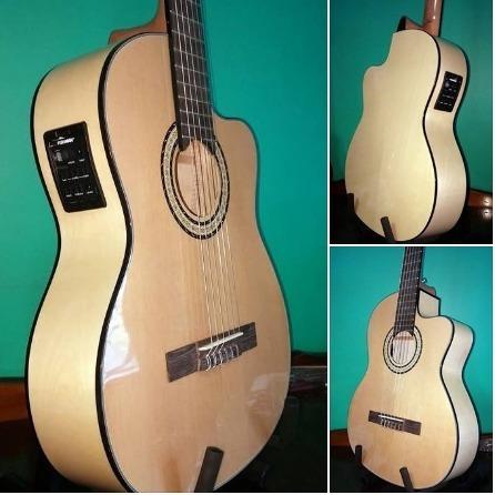 Guitarra Criolla 1/2 Concierto Segovia Con Ecu Fishman 301