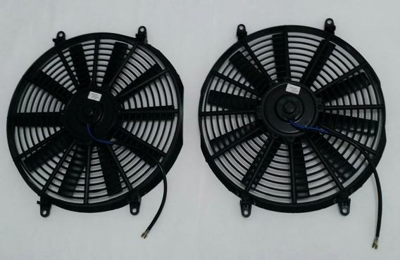Kit 2 Eletro Ventilador Ventoinha Universal 14 Polegada 12v