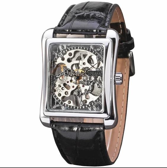 Relógio T Winner Automático Barato Couro+brinde C.14