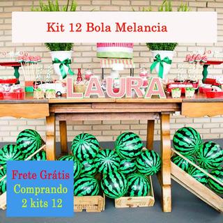 Kit 12 Bola Melancia Decoração Festa Da Luna- Magali Fazenda