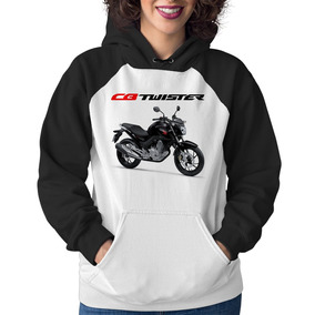Moletom Feminino Moto Honda Cb 250 F Twister Preta