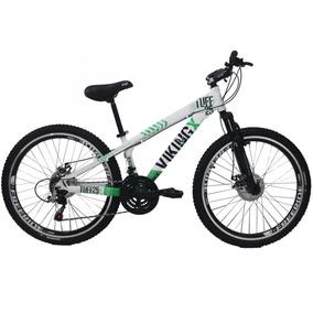 Bicicleta Vikingx Tuff25 Aro 26 21 Velocidades Branco/verde