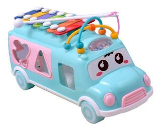 Juguete Cubo Bus Didáctico Musical Bebes Y Niños