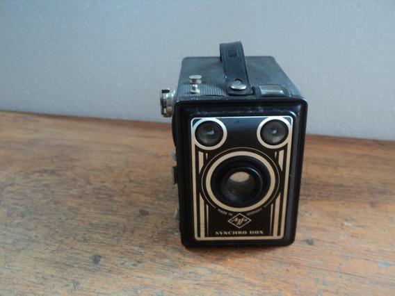 Camera Fotografica Agfa Box Antiga Para Decoração Usada