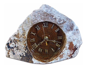 Relógio Rústico Em Pedra Sabão Exclusivo