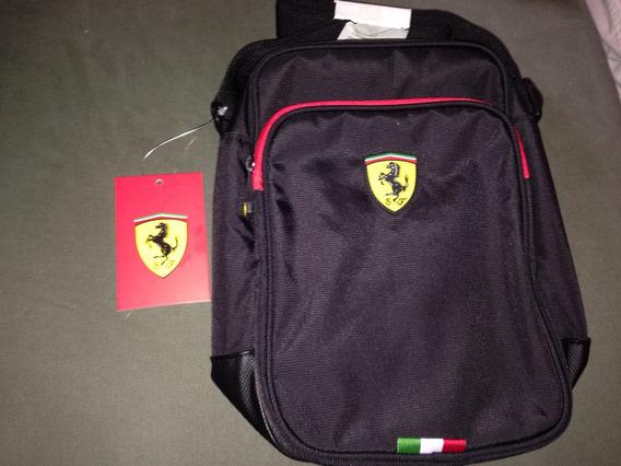 Bolsa Tiracolo Ferrari Original Preta