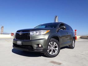 Toyota Highlander 2014 Xle 3 Filas Piel Quemacocos Bluetooth