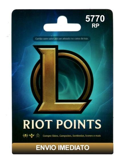 Cartão League Of Legends Lol - 5770 Riot Points Brasil Br