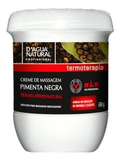 Creme De Massagem Pimenta Negra D