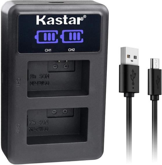 Carregador De Bateria Digital P/sony Npfw50 Kastar Led2-fw50