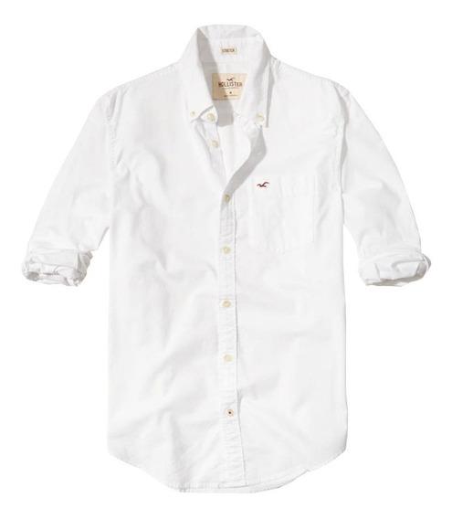 Camisa Social Masculina Hollister Oxford Original Importada