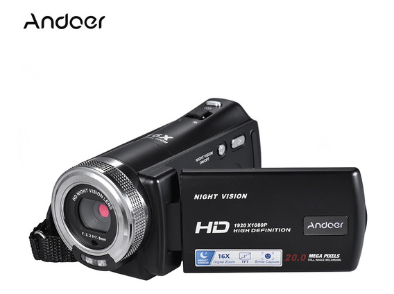 Andoer V12 1080p Full Hd 16x Digital Zoom Gravação Vídeo