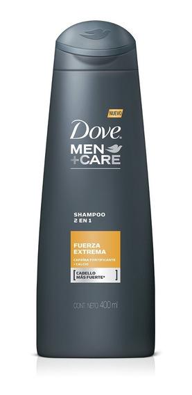 Shampoo 2 En 1 Dove Men Fuerza Extrema X 400ml
