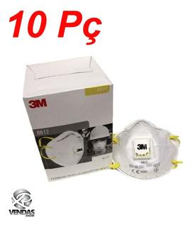 Respirador Mascara 8812 3m P1 Concha C Valvula Ca 5658 10 Pç