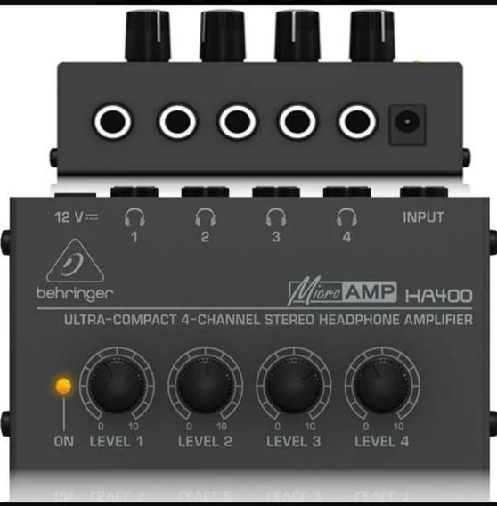 Amplificador Fone Behringer Ha400 Power Play Retorno Palco
