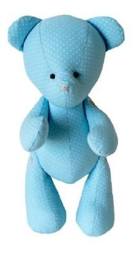 Imagem 1 de 4 de Urso Ursinho De Pelúcia Baby Tecido Poa Menta 30cm