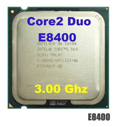 Imagem 1 de 2 de Processador Core 2 Duo E8400 3.00ghz Lga 775 + Pasta Térmica