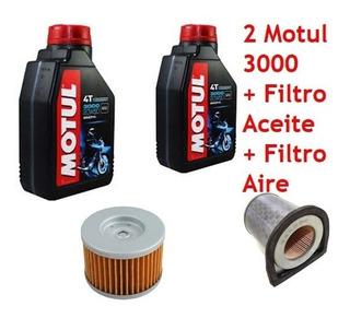 Combo Service Motul 3000 Y Filtros Cbx 250 Twister Jm Motos