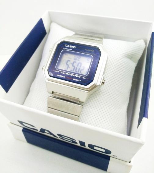 Reloj Casio Vintage Retro Color Plata Resistente V650