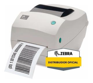Impresora Etiquetas Codigo De Barras Zebra Gc420 T + 3 Rollo