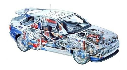 Ford Escort - Rally - Autos Clásicos - Lámina 45x30 Cm.