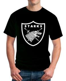 Playera Camiseta Games Of Thrones House Stark Raiders