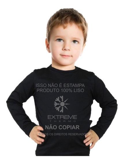 Camisa Térmica Segunda Pele Frio Moderado Extreme Kids