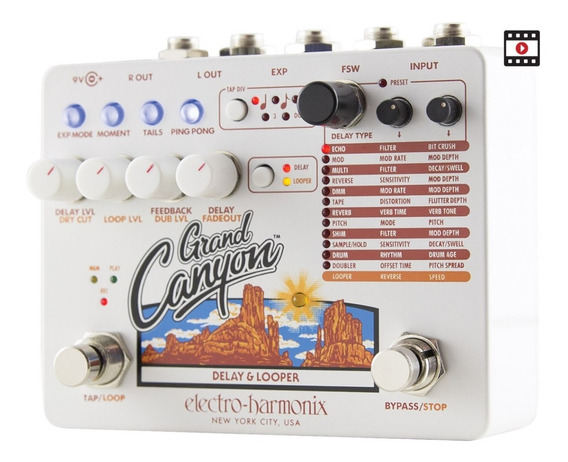 Pedal Grand Canyon Delay & Looper Ehx C/ Nf-e & Garantia