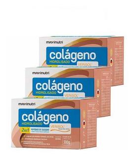 Kit 3 Colágeno Hidrolisado 30 Sachês Verisol - Maxinutri