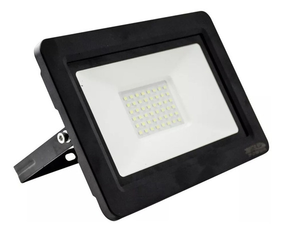 Refletor Holofote 30w Led Branco Frio Bivolt E Prova D