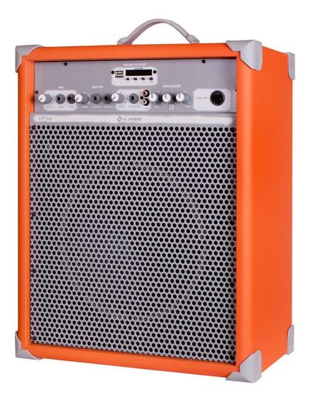 Caixa Som Amplificada Multiuso Up!10 Light Orange Fm/usb/bt