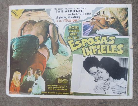 Vintage Raro Cartel De Cine Lobby Card Esposas Infieles!