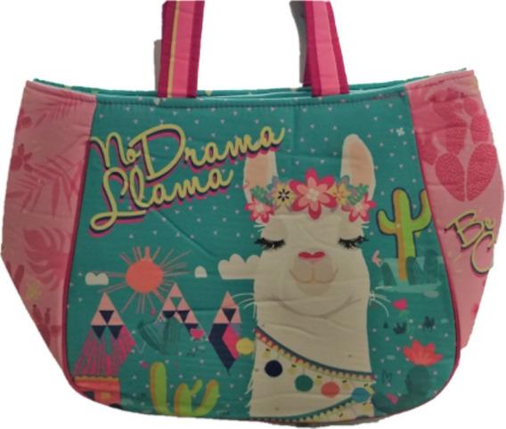 Bolso Playero Trendy Unicornio Sirena Llama