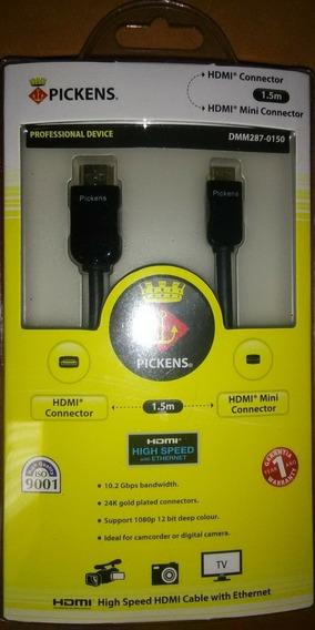 Cable Hdmi A Mini Hdmi 1.5 Mts Hd Tablet Zte E10q Prontotec