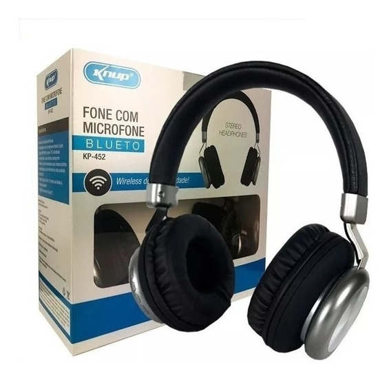 Headphone Bluetooth Stereo Extra Bass Sd Fm P2 Kp452