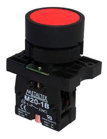 Pulsador Faceado 22mm Plástico - Vermelho - 1nf P20afr-r-1b